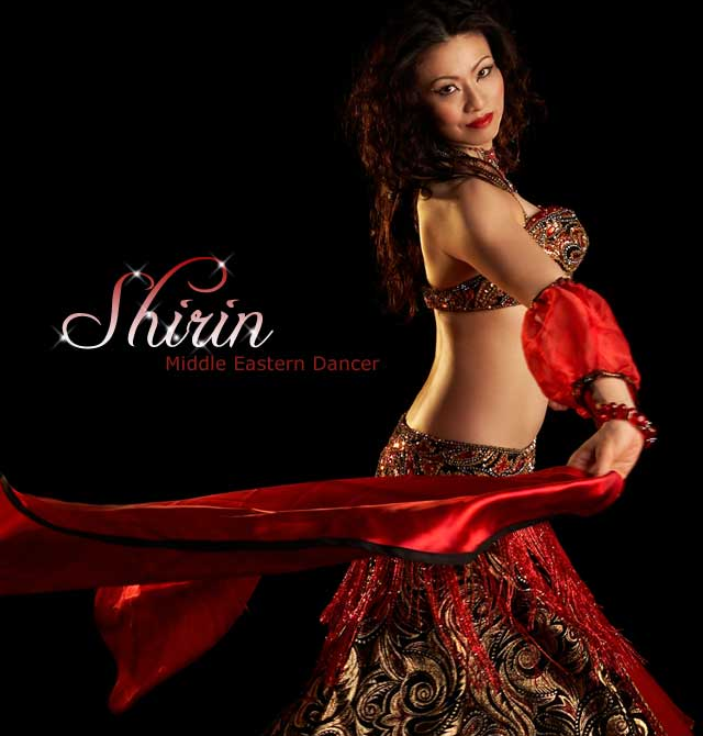 Middle Eastern belly dancer Shirin performing
